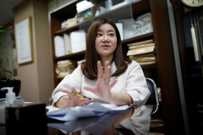 Lee Eun-eui à Séoul le 8 mars.