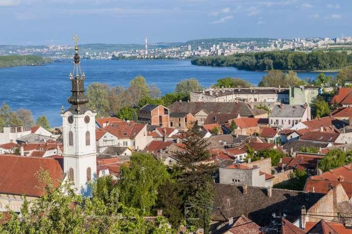 Vue sur le Danube et Belgrade depuis Zemun.