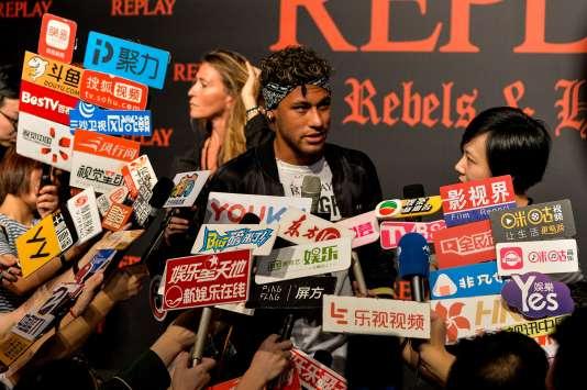 Neymar à Shanghaï, le 31 juillet 2017.