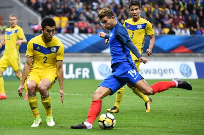 Lucas Hernandez le 5 septembre 2017 sous le maillot des Espoirs face au Kazakhstan.