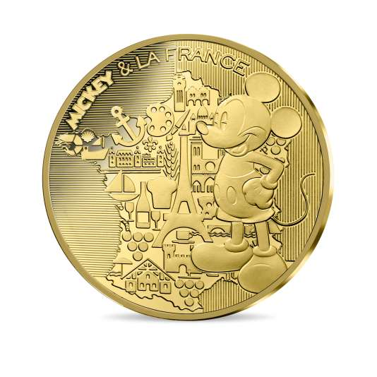 Pièce de 200 euros en or.