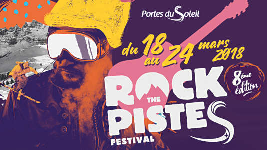 Affiche de la 8e édition du festival Rock The Pistes.