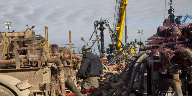 Site d'extraction de gaz de schiste à Midland (Texas), en octobre 2017.