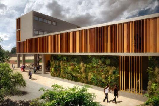 Le lycée français de Luanda en Angola réalisé par Martin Duplantier Architectes.