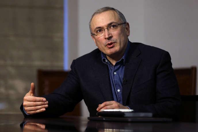Mikhaïl Khodorkovski, à Londres, le 15 février.