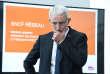 Guillaume Pepy, à la tête de la SNCF, lors de la présentation des résultats de l'entreprise, à Saint-Denis, le 27 février.