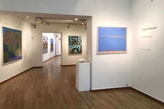 Vue d'ensemble de l'exposition de Vincent Bioulès,« Au dedans/Au dehors».