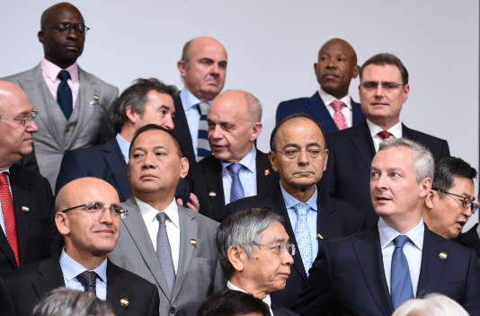 Bruno Le Maire (à droite sur la photo), lors d'un précédent G20 des ministres des finances, à Washington, le 12 octobre 2017.