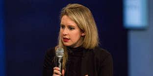 Elizabeth Holmes, fondatrice de Theranos, en 2015 à New York.