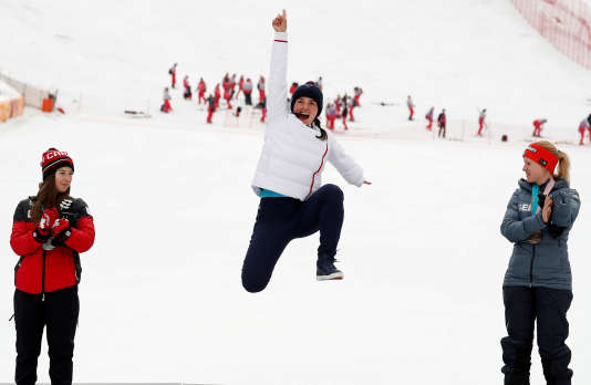 L'octuple championne paralympique en ski alpin, Marie Bochet, le 18 mars en Corée du Sud.