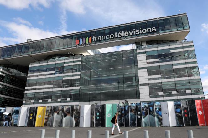 Au siège de France Télévisions à Paris, en 2017.