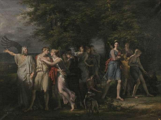 «Le Départ de Télémaque», par Charles Meynier (1768-1832). Cette huile sur toile sera vendue à Nantes le 27 mars.
