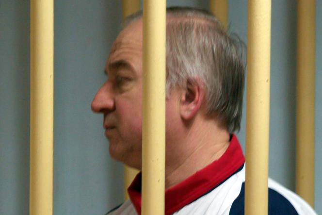 Sergueï Skripal lors de son procès, à Moscou, en 2006.