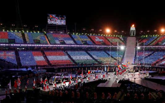Lors de la cérémonie de clôture des Jeux paralympiques, le 18 mars.