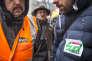 Rassemblement du personnel SNCF au sujet du projet de changement de statut des cheminots, à Bordeaux, le 28 février.