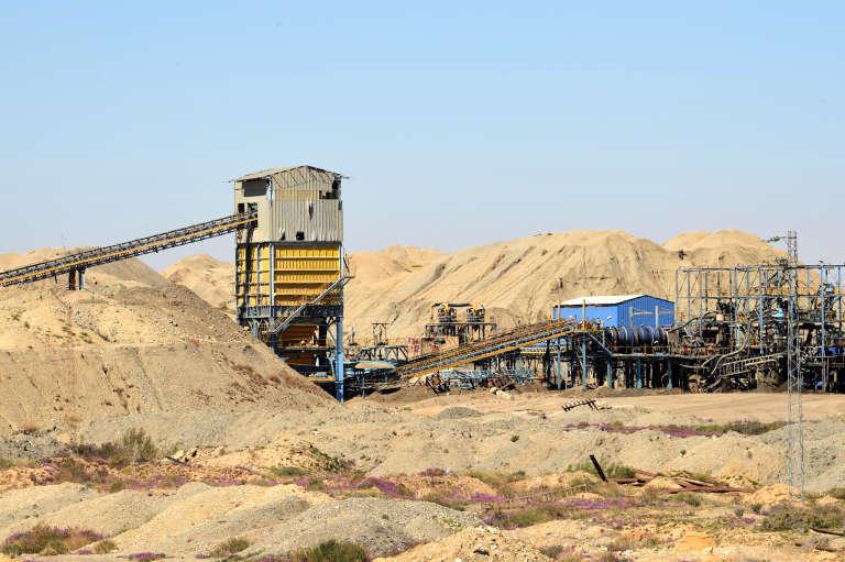 La mine de phosphate de Mdhilla, dans le centre de la Tunisie, où les opérations d'extraction venaient de reprendre après un mouvement social de plusieurs semaines, le 9mars2018.
