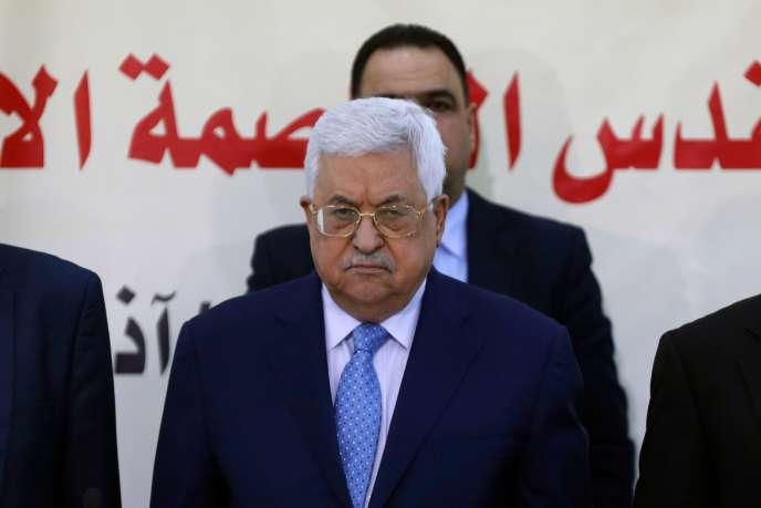Le président de l'Autorité palestinienne Mahmoud Abbas, le 1er mars à Ramallah (Cisjordanie).