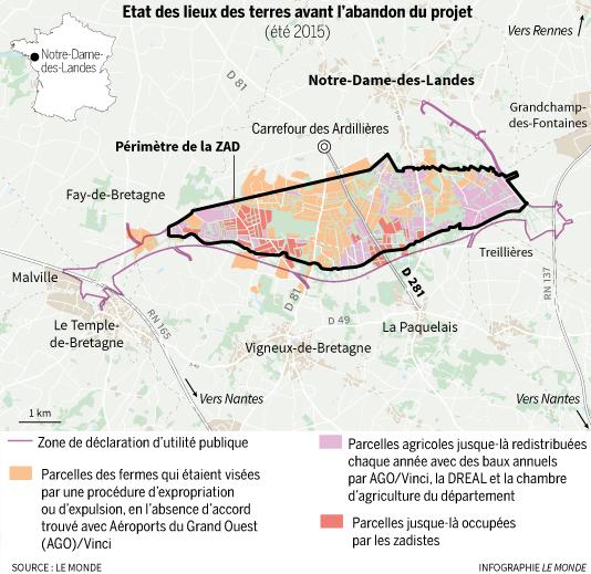 Etat des lieux des terres avant l'abandon du projet de Notre-Dames-des-Landes.