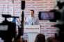 L'opposant Alexeï Navalny, qui avait appelé à un boycott de l'élection présidentielle russe, donne une conférence de presse, à Moscou, le 18 mars.