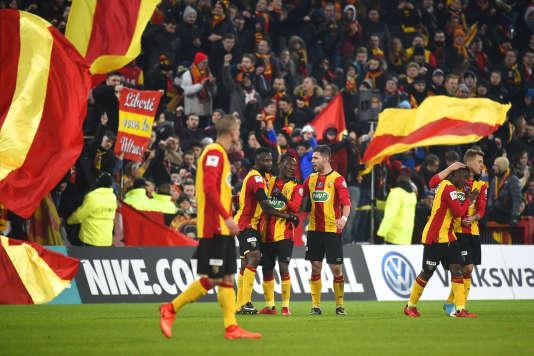 Lors du match entre Lens et Troyes le 7 février