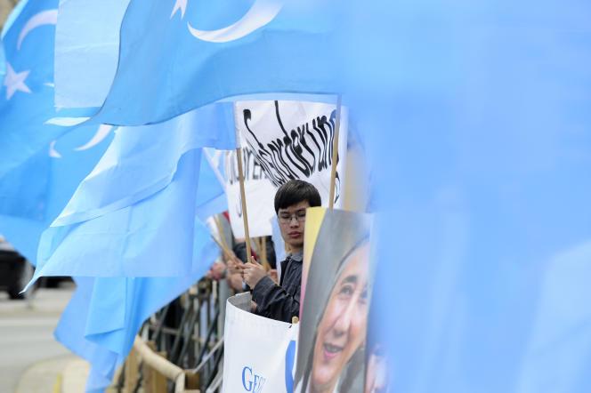 Manifestation de soutien aux Ouïgours, en 2012 à Hanovre.