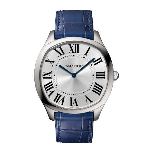 Drive Extra-Plate, Cartier, désormais disponible en acier, 5 400 €.