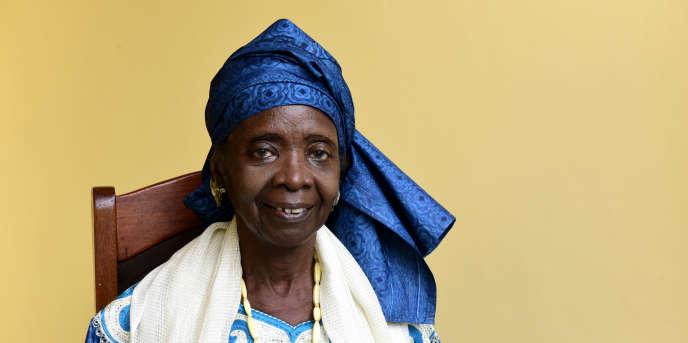 L'auteure sénégalaise Aminata Sow Fall, à Dakar, en octobre 2017.