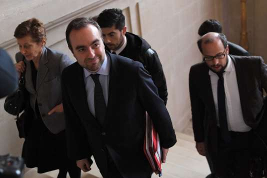 Sébastien Lecornu, secrétaire d'Etat auprès du ministre de la transition écologique et solidaire, mardi20 mars, à la préfecture de Nantes.