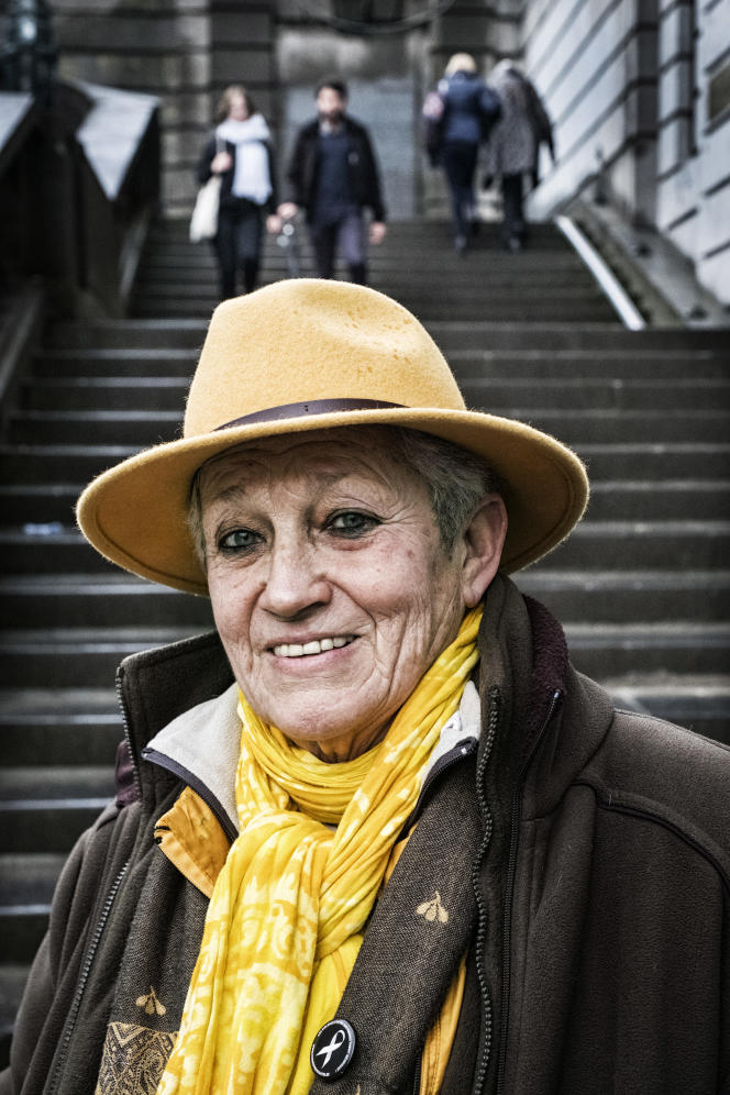 Anne Tonglet, à Bruxelles, début mars.