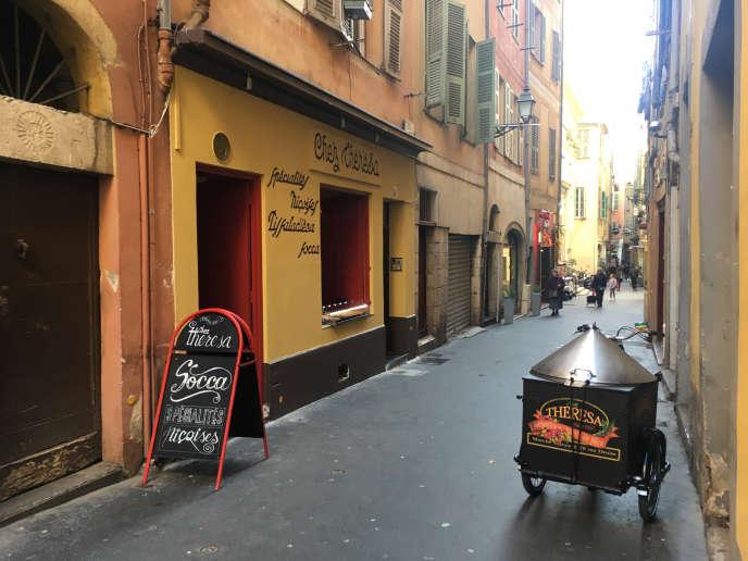 La rue Droite à Nice.