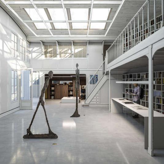 Projection 3D de l'Institut Giacometti (architecte Pascal Grasso,architecte ACMH associé Pierre-Antoine Gatier).