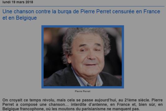 Capture d'écran de l'article du blog d'extrême droite Peupledefrance.com.