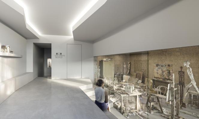 Projection 3D de la reconstitution de l'atelier d'Alberto Giacometti (architecte Pascal Grasso,architecte ACMH associé Pierre-Antoine Gatier).