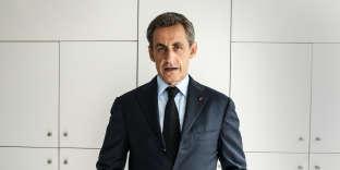 Nicolas Sarkozy au siège du parti Les Républicains en 2016.