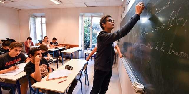 Au lycée Michelet de Nice, l'un de ceux qui figurent dans le classement des lycées 2018 du« Monde». / AFP PHOTO / Yann COATSALIOU