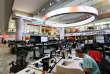 La newsroom au siège de la BBC, à Londres.