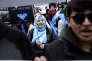 Manifestation de soutien aux Ouïgours, devant la mission permanente de la Chine aux Nations unies, le 15 mars, à New York.