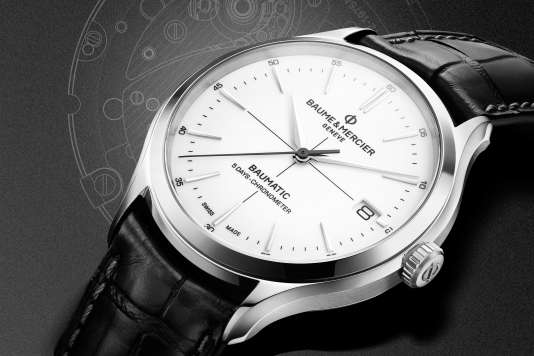 Clifton Baumatic, Baume & Mercier, certifiée chronomètre, cinq jours de marche, amagnétique, 2 600 €.