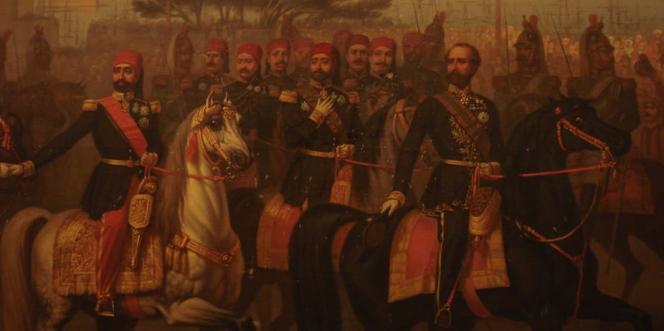 Rencontre du bey de Tunis, Muhammad Sādiq Bāšā-Bey, et Napoléon III à Alger, le 20 septembre 1860.