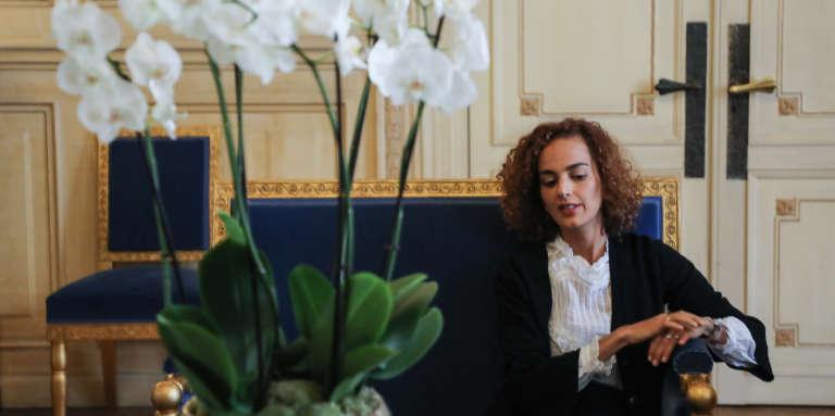 L'écrivaine franco-marocaine Leïla Slimani, représentante personnelle d'Emmanuel Macron pour la Francophonie, à l'Elysée, le 6novembre 2017.