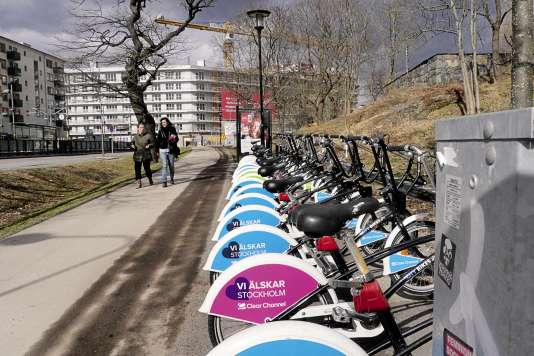 Les vieux City Bikes noirs de la société Clear Channel restent en service dans la capitale suédoise.