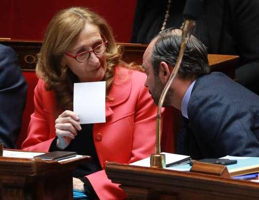La ministre de la justice Nicole Belloubet et le premier ministre Edouard Philippe le 21 mars.