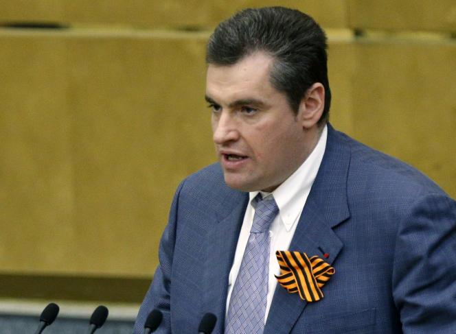 Leonid Sloutski, président de la commission des affaires étrangères de la Douma, en mars 2014.