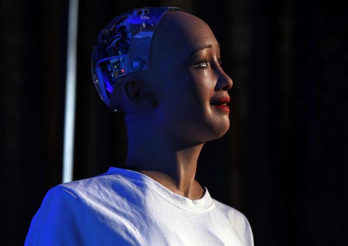 Sophia, robot conçu par l'entreprise Hanson Robotics.