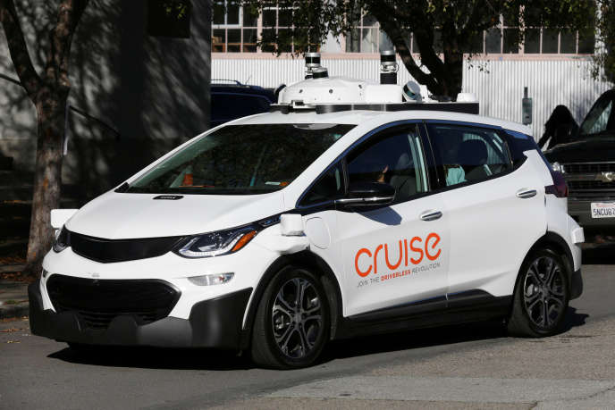 Une voiture autonome de General Motors Cruise, à San Francisco, en novembre 2017.