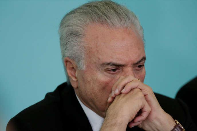 Michel Temer, président brésilien, le 21 mars 2018.