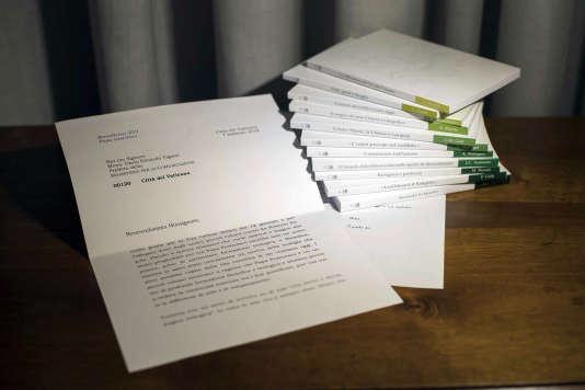 La lettre de Benoît XVI, telle que présentée par le Vatican.