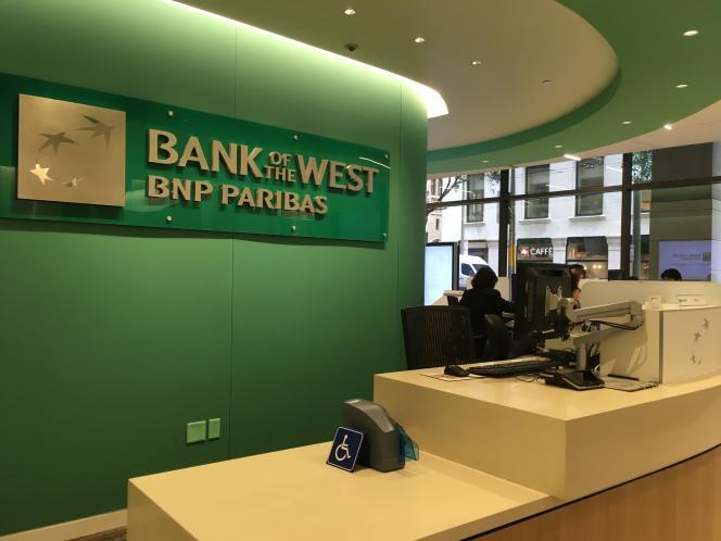 Siège social de Bank of the West à San Francisco, le 15 mars.