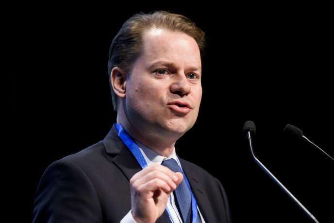 Olivier Niggli, directeur de l'Agence mondiale antidopage, le 21 mars 2018, à Lausanne.
