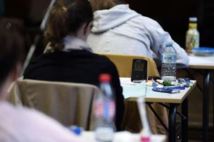 Lors des épreuves du baccalauréat à Strasbourg, en 2016.